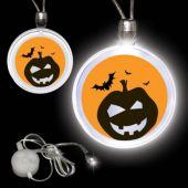 Jack-O-Lantern LED and Light-Up Pendant