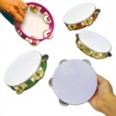 "Party Tambourines-5 1/2""- 12 Pack"