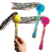 Tinsel Party Maracas-12 Pairs Per Pack