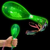 Green LED Party Maracas-12 Pack
