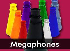 Plastic Cheer Megaphones
