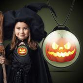 Halloween Pumpkin Backlit Badge
