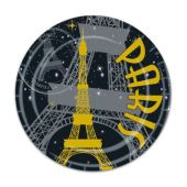 """Paris 7"""" Plates-8 Pack"""
