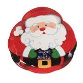 Santa Claus Plastic Serving Tray