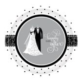 "Black & White Wedding 7"" Plates – 8 Pack"