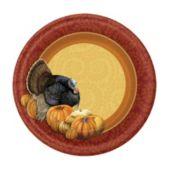 "Thanksgiving Harvest 7"" Plates"
