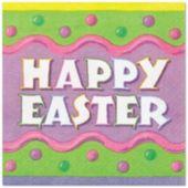 Happy Easter Beverage Napkins - 16 Pack