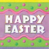 Happy Easter Lunch Napkins - 16 Per Unit