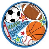 "Sports Birthday 9"" Plates – 8 Pack"