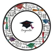 "Graduation You Did It Plates - 8 1/2"" - 40 Per Unit"