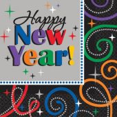 Happy New Year Lunch Napkins – 16 Per Unit