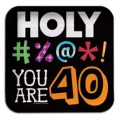 """40 Holy Bleep 7"""" Square Plates"""