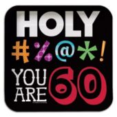 """60 Holy Bleep 7"""" Square Plates"""