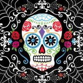 Sugar Skull Beverage Napkins-36 Per Unit