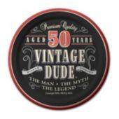 "Vintage Dude 50 Years 7"" Plates  – 8 Pack"