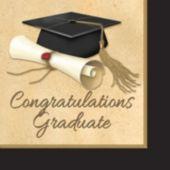Golden Graduate Lunch Napkins – 16 Pack
