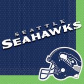Seattle Seahawks Lunch Napkins – 16 Pack