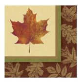 Fall Elegance Beverage Napkins – 16 Pack
