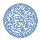 "Blue Scroll Plates-7""-8 Pack"