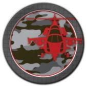 """Camo Red  8 3/4"""" Plates – 8 Pack"""