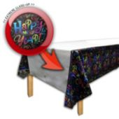 New Years Eve Countdown Plastic Table Cover