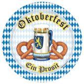 "Oktoberfest Pretzels 9"" Plates - 8 Per Unit"