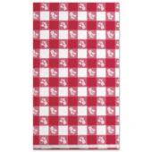 Red Gingham Flower Table Cover