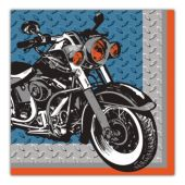 Motorcycle Lunch Napkins - 16 Per Unit