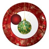 "Christmas Ornaments     8 3/4"" Plates - 8 Per Unit"