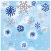 Snowflake Magic Lunch Napkins – 16 Pack