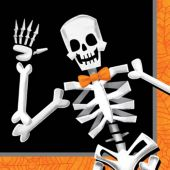 Skeleton Dancer Beverage Napkins- 16 Per Unit