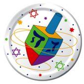 """Hanukkah Festive 7"""" Plates – 8 Pack"""