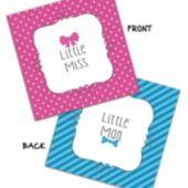 Little Man or Little Miss Beverage Napkins – 16 Pack