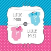 Little Man or Little Miss Baby Shower Lunch Napkins – 16 Pack