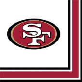 San Francisco 49ers Lunch Napkins – 16 Pack