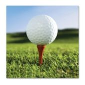 Golf Ball Beverage Napkins – 18 Pack