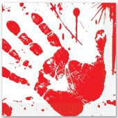 Bloody Hand Print Lunch Napkins – 16 Pack
