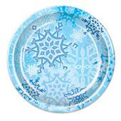 "Snowflake 9"" Plates - 8 Per Unit"