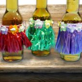 Hula Skirt Drink Dress Ups - 12 Pack