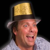 Gold Stars Top Hat - 12 Pack