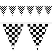 "Checkered 18"" x 30'  Pennant Banner"