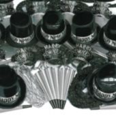Silver Showboat New Year's Eve Party Kit for 100 People