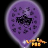Mardi Gras Mask Purple Balloons White Lights - 10 Pack