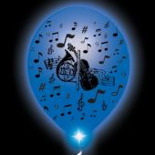 Musical Lumi-Loons Balloon Lights White Balloons Blue Lights - 10 Pack