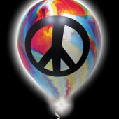 Tie-Dye Lumi-Loons Pro Line W/ Peace Sign - 10 Pack
