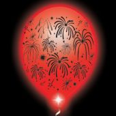 Fireworks Lumi-Loons White Balloons Red Lights