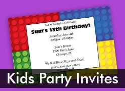 Personalized Kids Party Invitations