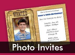 Personalized Photo Invitations