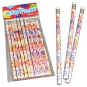 Psychedelic Tie Dye Pencils-12 Pack
