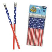 USA Flag Pencils-12 Pack